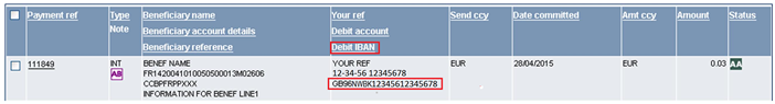 Payment reference